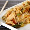 Spaghetti di Soia con Verdure e Pollo